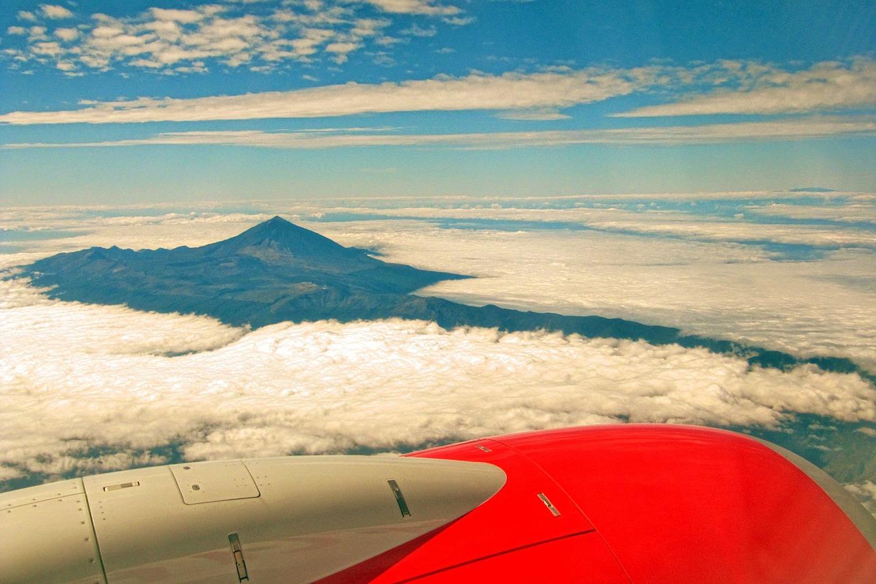 Teide dall'aereo